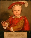 Edward Vi as a child by Hans Holbein