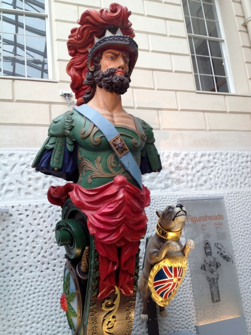 Figurehead from HMS Ajax (1809-64) and HMS Bulldog (1845-65)